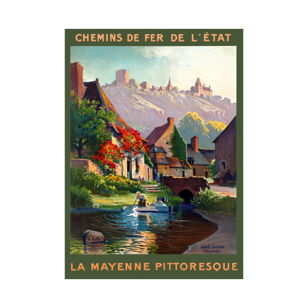 Vintage Travel Poster France Ly Mayenne Pittoresque