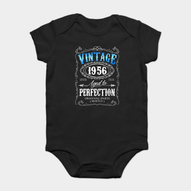 0384781c Vintage 1956 aged to perfection 60th birthday gift for men 1956 60 birthday  Onesie