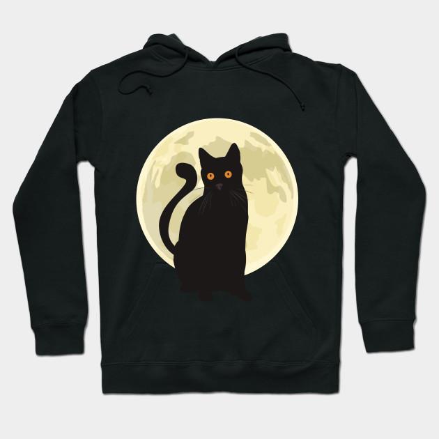 Black Cat Halloween - Black Cat - Hoodie   TeePublic
