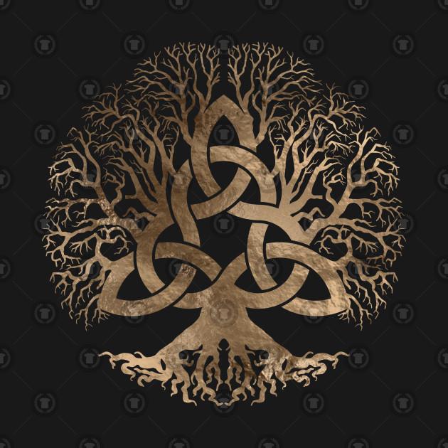 mode designer df710 40a9c Tree of life -Yggdrasil with Triquetra