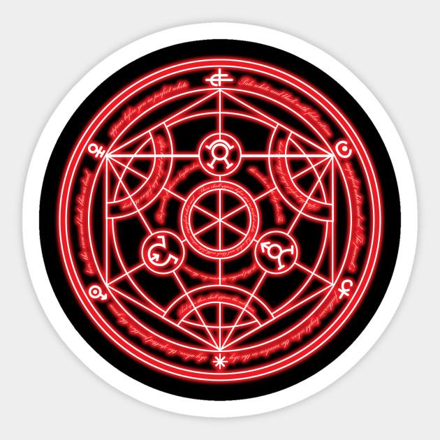 transmutation circle - Fullmetal Alchemist - Sticker | TeePublic
