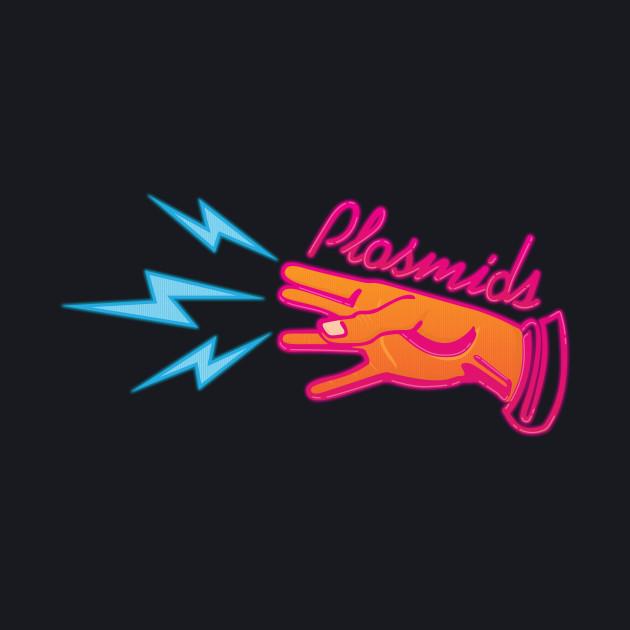 """Plasmids"" sign"
