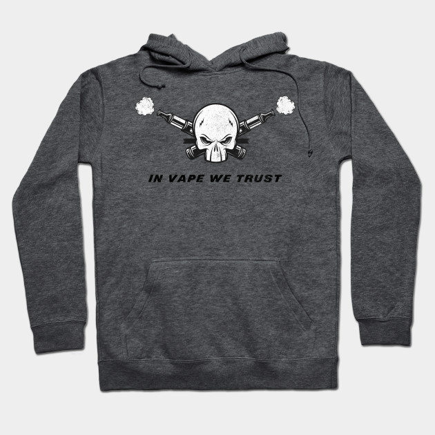 Distressed Retro In Vape We Trust Vaping Hoodie