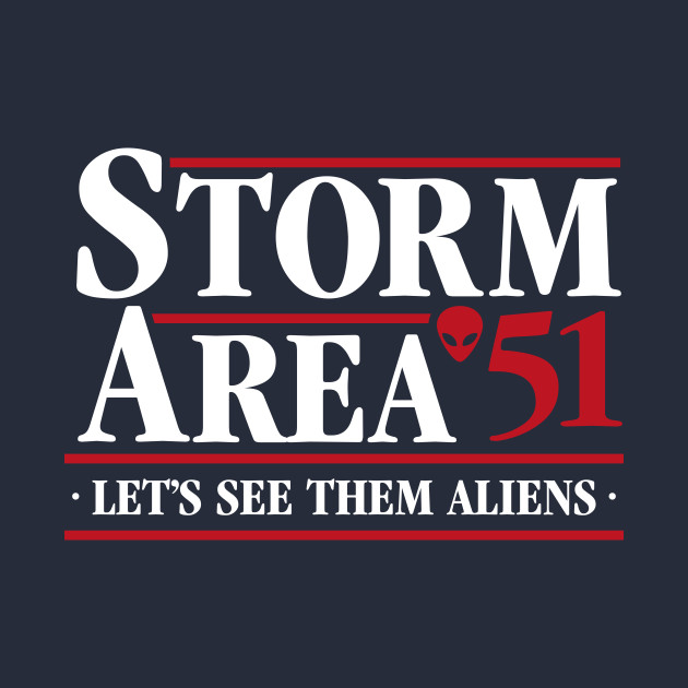 Storm Area 51 Lets See Them Aliens Kids T-Shirt