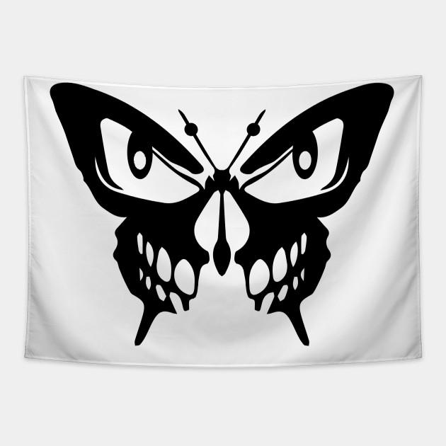 Halloween skull butterfly , scary halloween jack smile