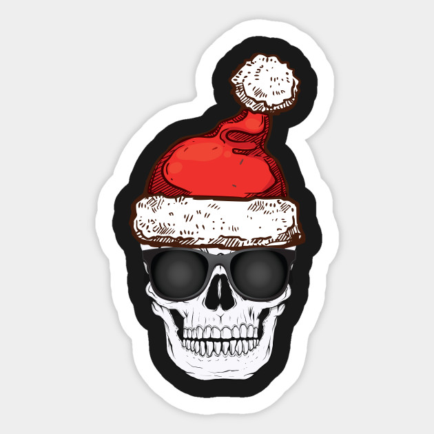 Christmas Skeleton.Creepy Christmas Skeleton Santa Hat