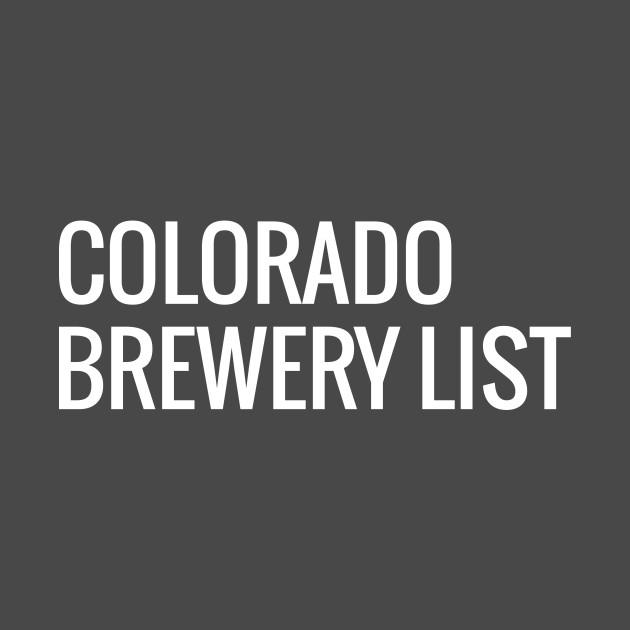 Colorado Brewery List - White