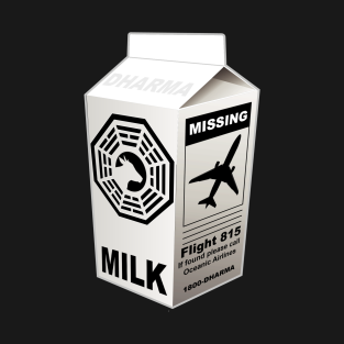 Dharma Initiative Missing Milk t-shirts