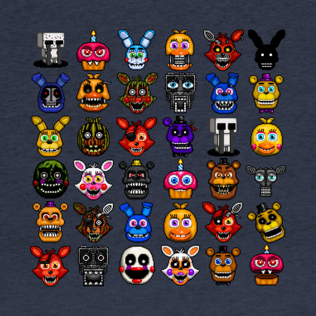 FNAF pixel art collage