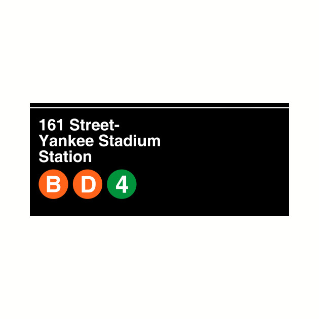New York Yankees Subway Sign