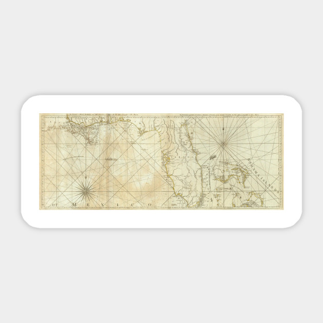 Vintage Map of Florida and The Bahamas (1776) - Florida Map ...