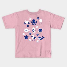 Sea Creatures Kids T-Shirts | TeePublic