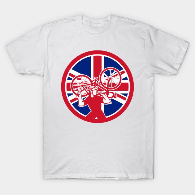 Britische Flagge Retro Fahrrad Trikot Radsport