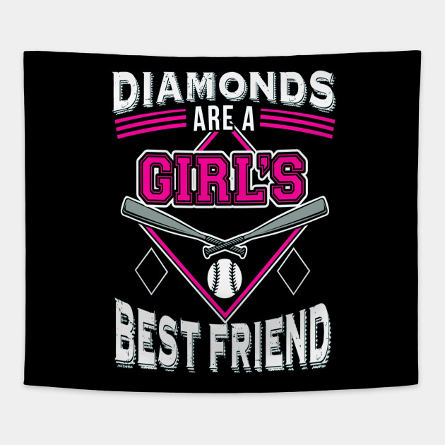 498a9d6e Softball TShirt DIAMONDS ARE A GIRL'S BEST FRIEND - Softball ...