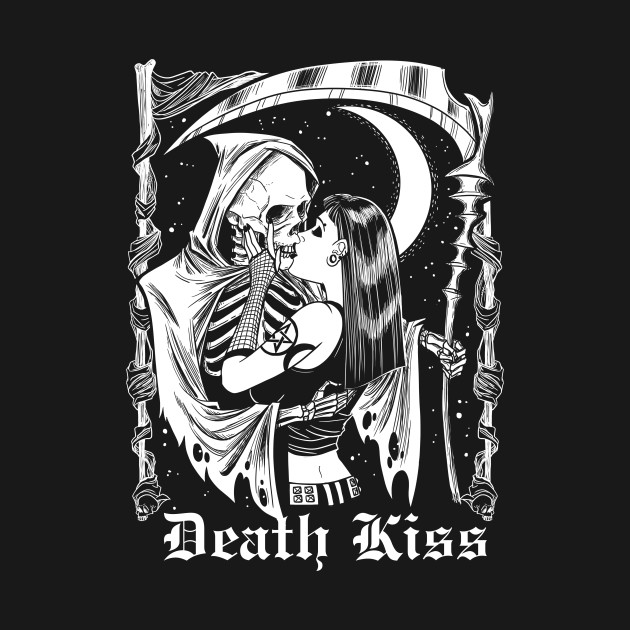 Death Kiss Witch and Death Grim Reaper Skeleton