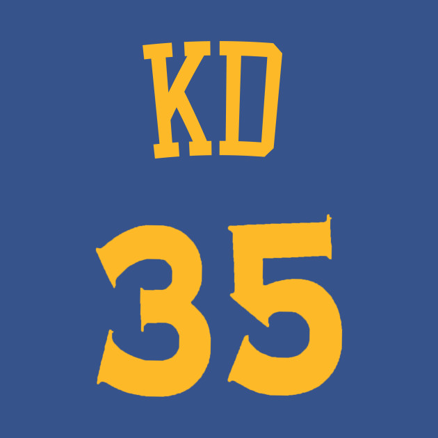 4b95ed833dd Kevin Durant  KD  Nickname Jersey - Golden State Warriors - Nba ...