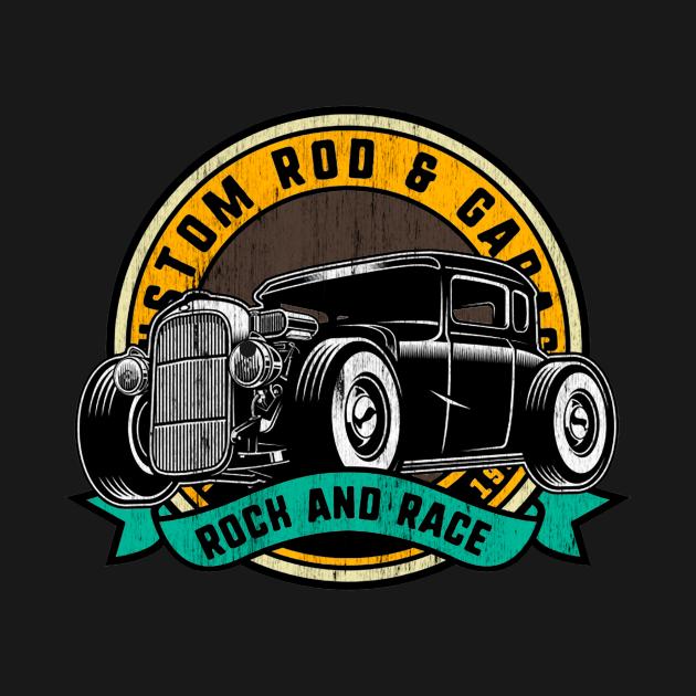 Rock and Race Hot Rod Garage Classic Car