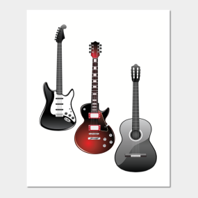 Rock And Roll Guitar Wall Art