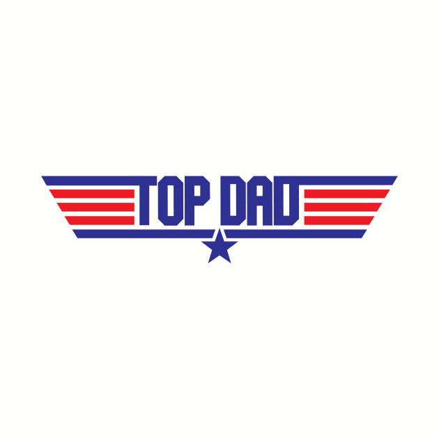 Top Dad Top Gun Logo