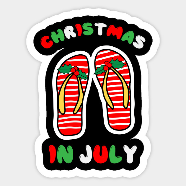 Christmas In July Party Clipart.Christmas In July Cool Summer Beach Party Flip Flop Design