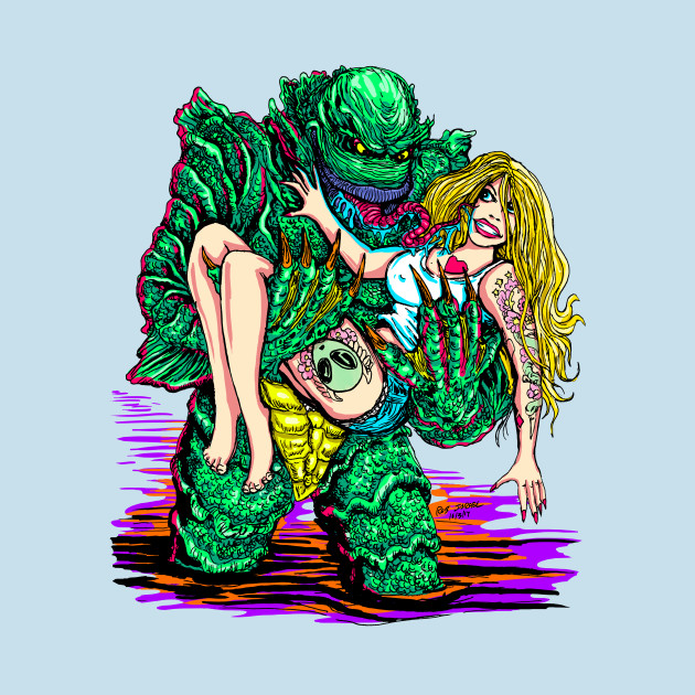 Creature from the lagoon