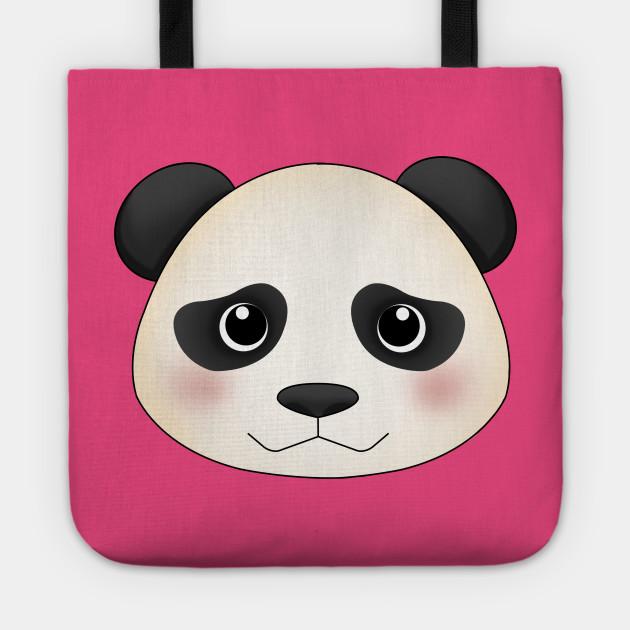 Kawaii panda face - Panda - Tote  615c41d60754e