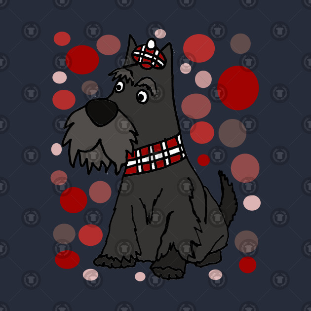 Cute Scottish Terrier Ad Circle Pattern Art