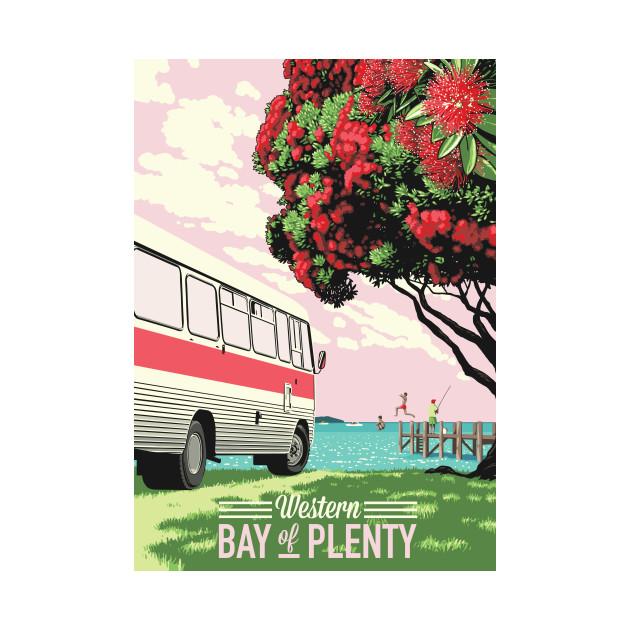 Bus and Pohutukawa