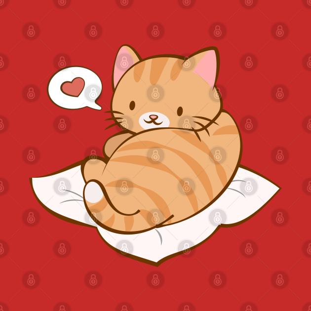 Kawaii Orange Tabby Kitty Cat Love