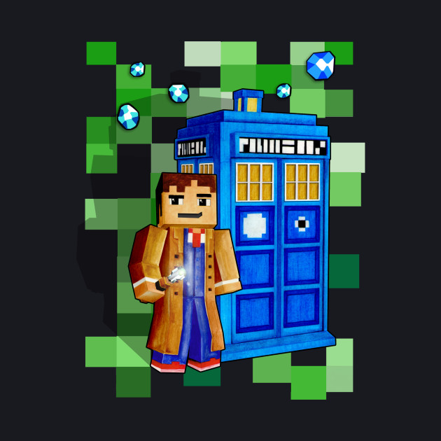8bit 10th Doctor With time traveler box