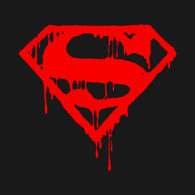 DRIPPING BLOOD SUPERMAN T SHIRT TOP TEE TSHIRT HERO BLEEDING DOPE COMIC MARVEL