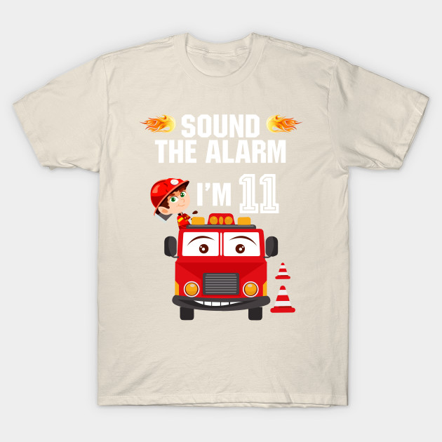 Birthday Boy Shirt For 11 Year Old 11th Sound The Alarm T