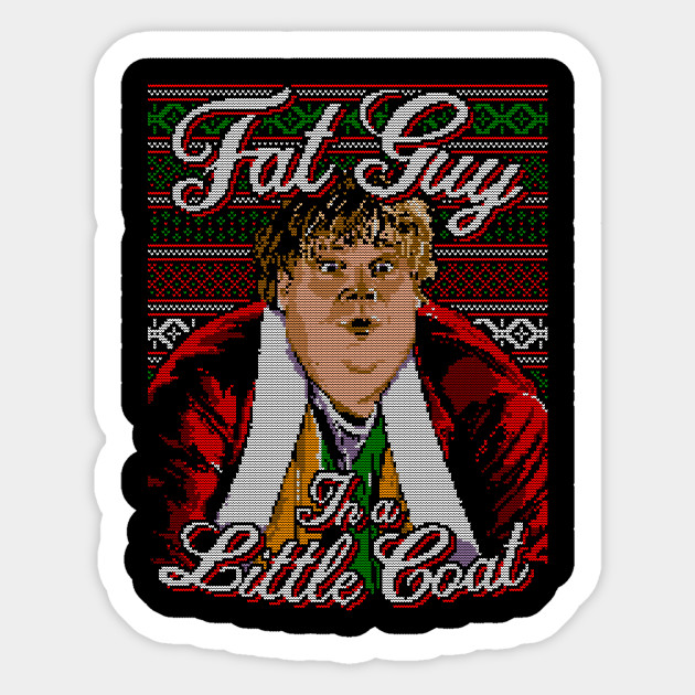 90s Christmas Sweaters.Fat Guy Little Christmas Coat