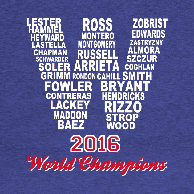 FLY THE W 2016 WORLD CHAMPIONS