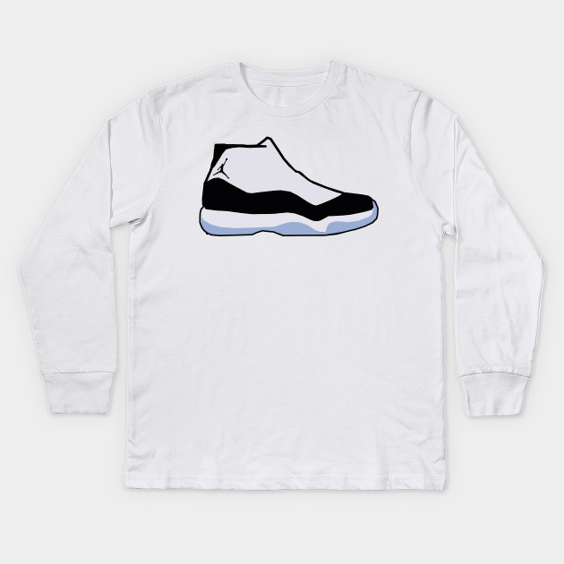 71fcb53a93de ... Kids Long Sleeve T-Shirt. New!Back Print. Air Jodan 11 Concord ...