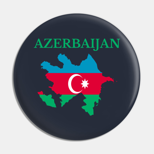 Azerbaijan Map Flag Azerbaijan Pin Teepublic Au