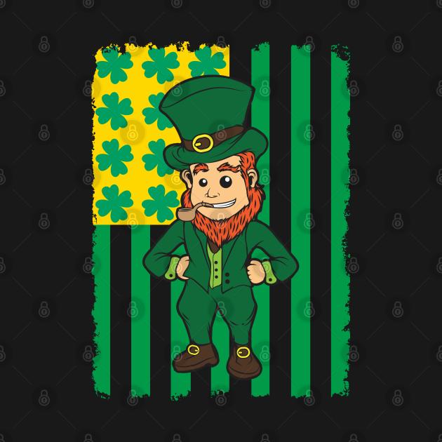 Irish American Leprechaun Flag