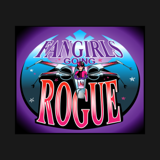 Fangirls Going Rogue Logo Tee with Background