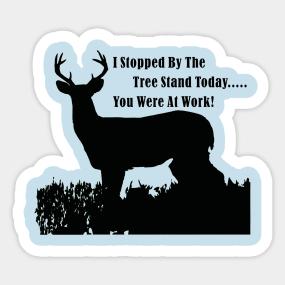 Deer Hunting Stickers Teepublic