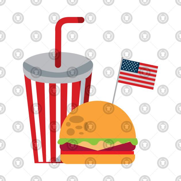 Soda Burger American Flag