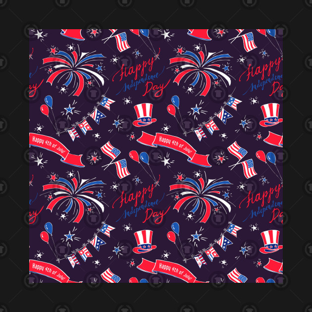 Independence Day Celebration American Flag Pattern