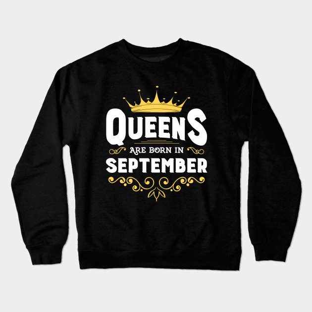 Queens Are Born In September T Shirt - Uk Football Softball ...