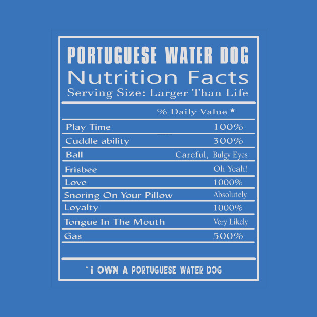 d65862d8 PORTUGUESE WATER DOG Nutrition Facts - Nutrition Facts - T-Shirt   TeePublic