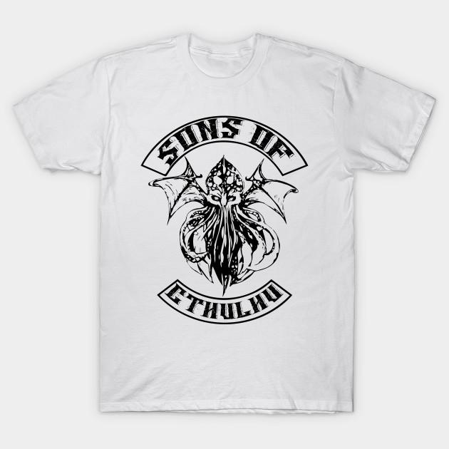 Call of Cthulhu Adult Black Back T-Shirt