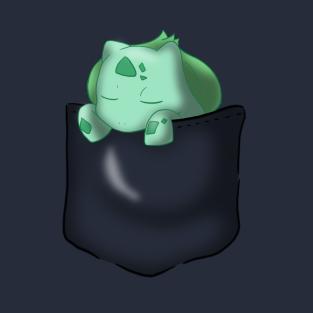 Bulbasaur Sleeping In Pocket t-shirts
