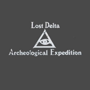 Lost Delta Archaeological Expedition t-shirts