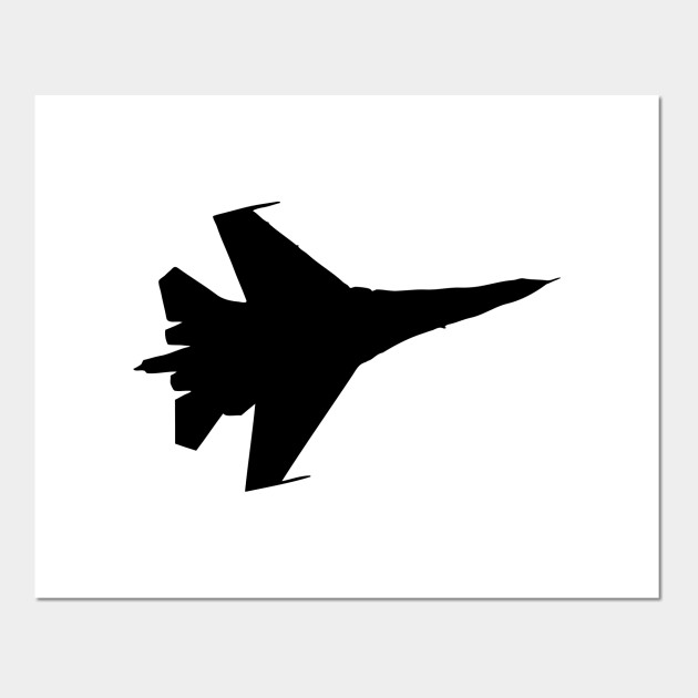 F16 Flying Jet Silhouette Jet Black Posters And Art Prints Teepublic