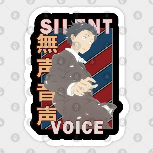 Shoya Ishida A Silent Voice Eiga Koe No Katachi Retro Anime Design Shoya Ishida Sticker Teepublic Au