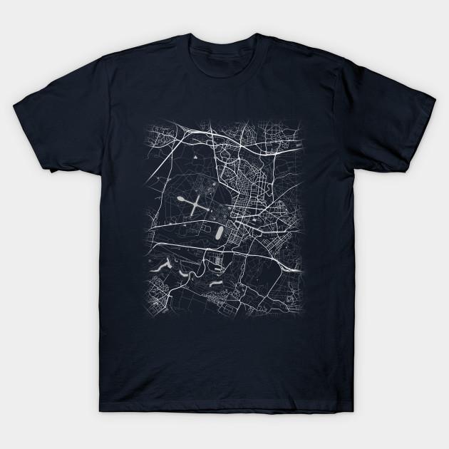 Map Of Yvelines France.Minimal Versailles France Yvelines City Map Versailles T Shirt
