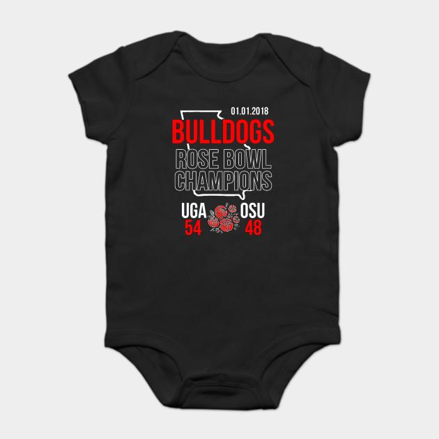 417efbc7 Bulldogs Rose Bowl Champions Shirt (Score Shirt)- 2018 Georgia Onesie
